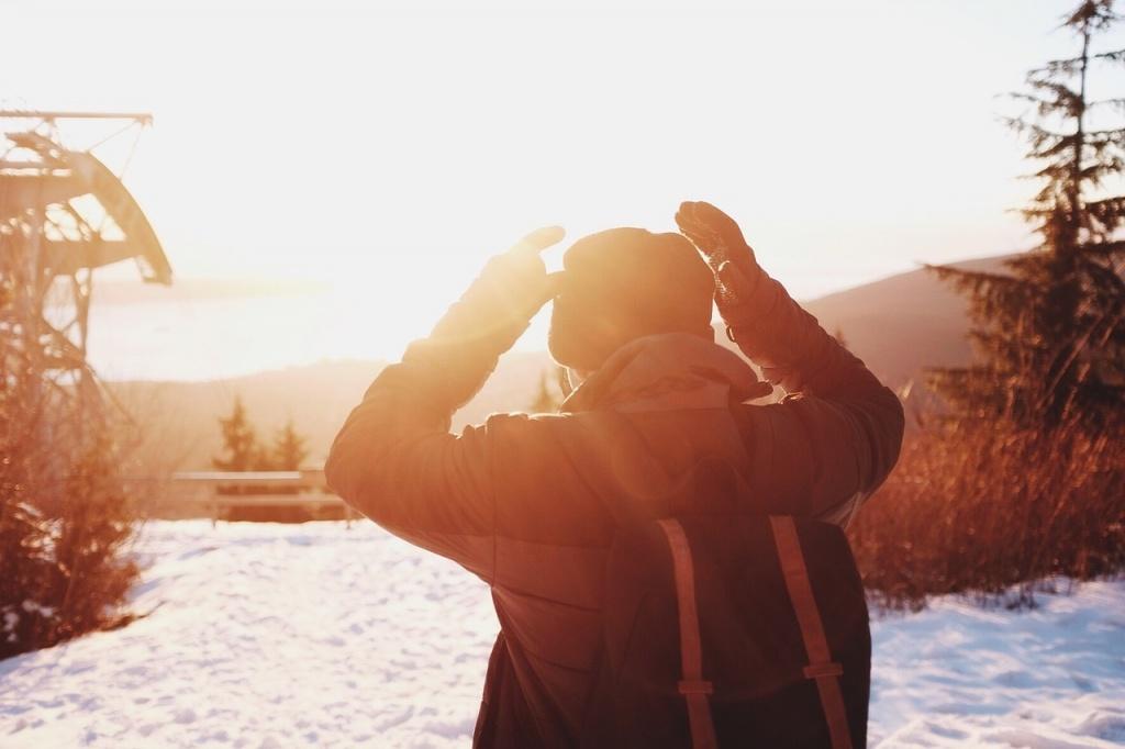 słońce zimą