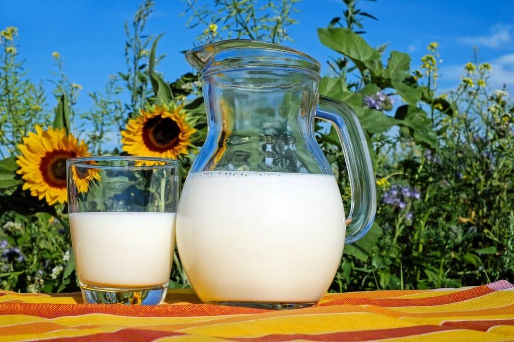 dzbanek ze świeżym mlekiem
